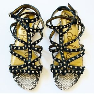 Sam Edelman Shoes - SAM EDELMAN DEMI STUDDED LEATHER GLADIATOR SANDAL